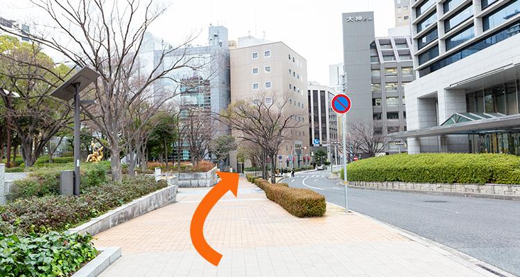 市役所前からの道案内