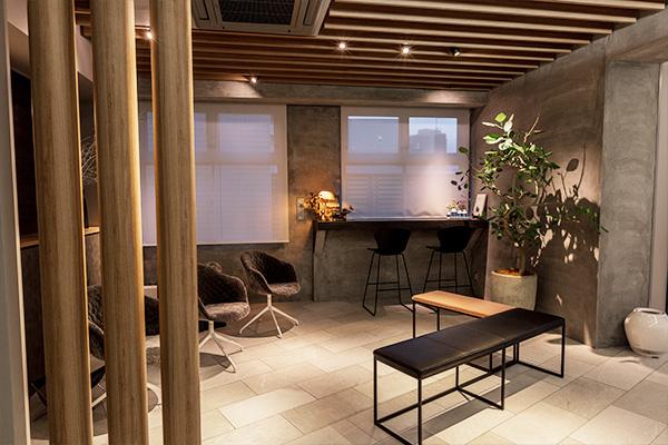 カフェのようなリラックス空間気軽に相談できる落ち着いた雰囲気