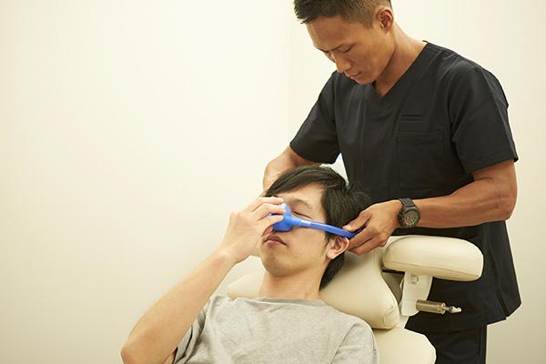 検査・施術時には笑気麻酔を実施